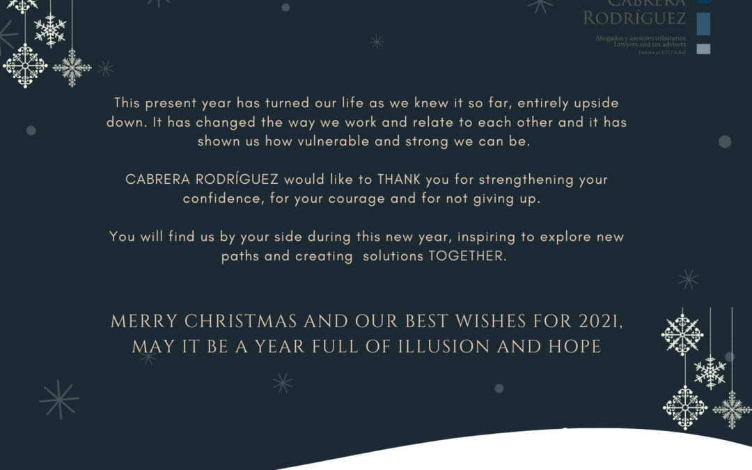 Cabrera Rodríguez wishes you Merry Christmas