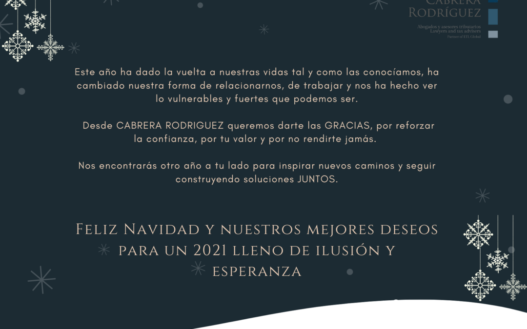 Desde Cabrera Rodríguez te deseamos Feliz Navidad